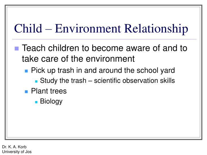 Child – Environment Relationship