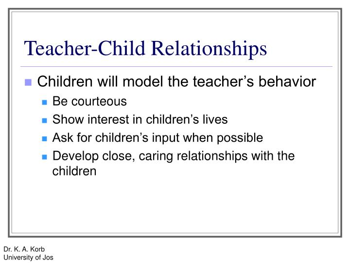 Teacher-Child Relationships