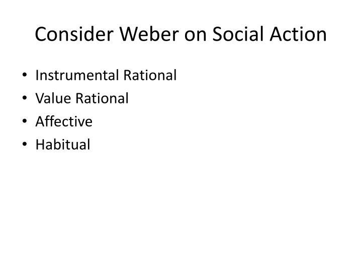 Consider Weber on Social Action
