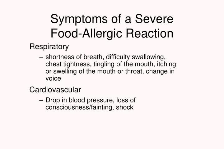 Symptoms of a Severe