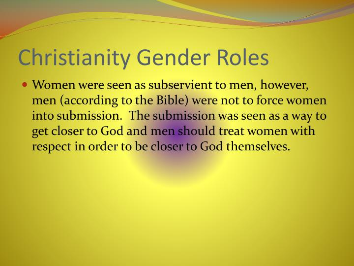 Christianity Gender Roles