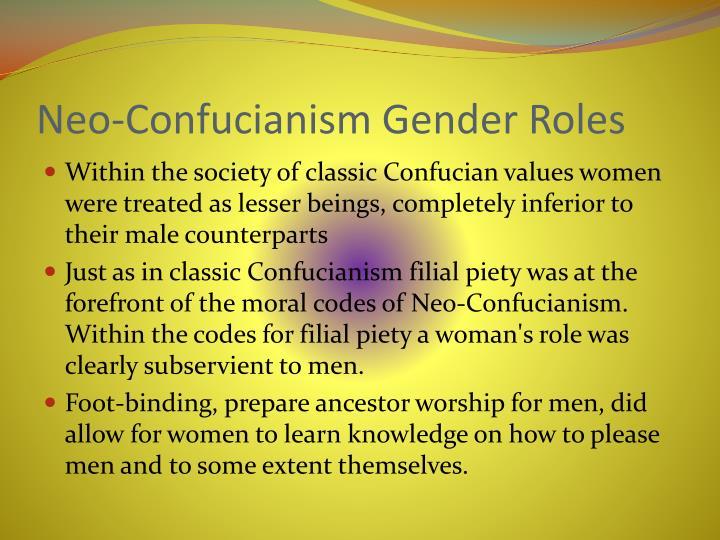 Neo-Confucianism Gender Roles
