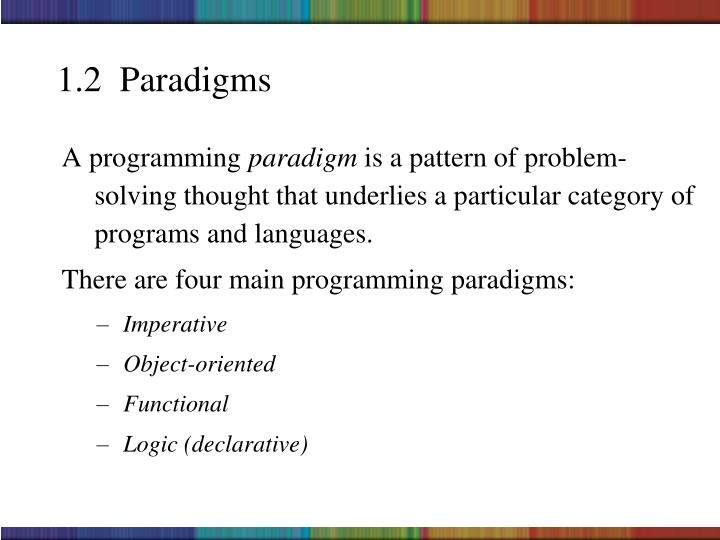 1.2  Paradigms