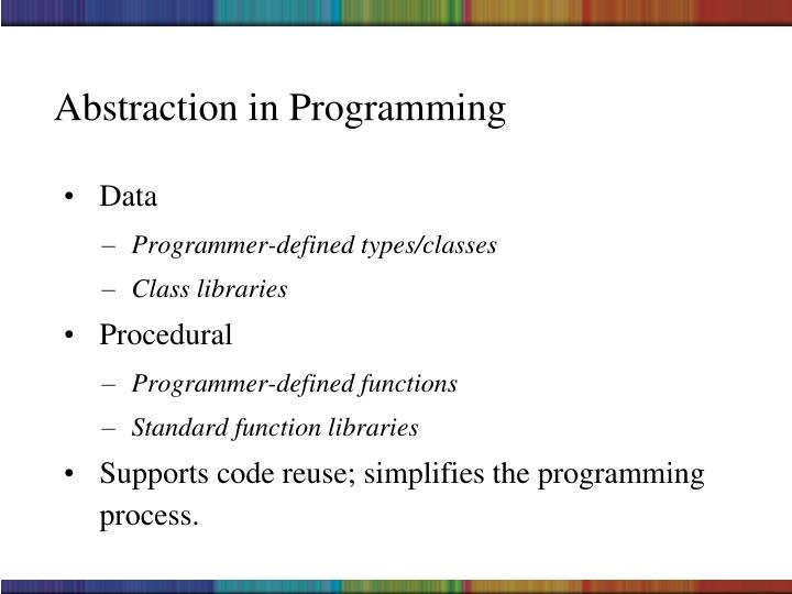 Abstraction in Programming