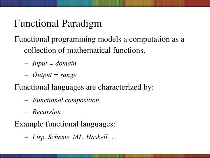 Functional Paradigm