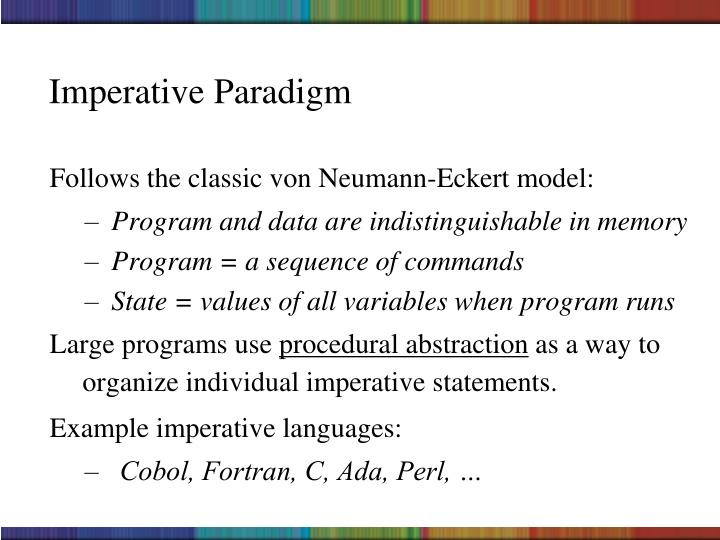 Imperative Paradigm