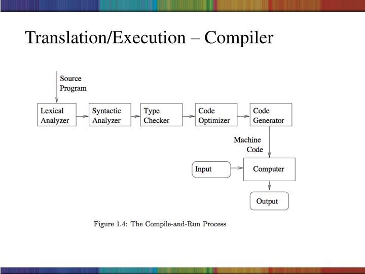 Translation/Execution – Compiler