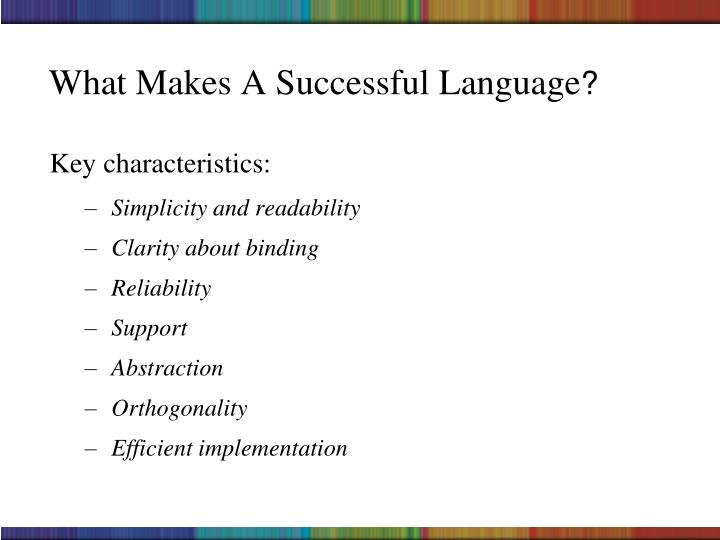 What Makes A Successful Language