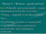 theme 5 women good and bad1