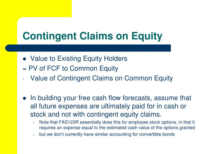 Contingent Claims on Equity