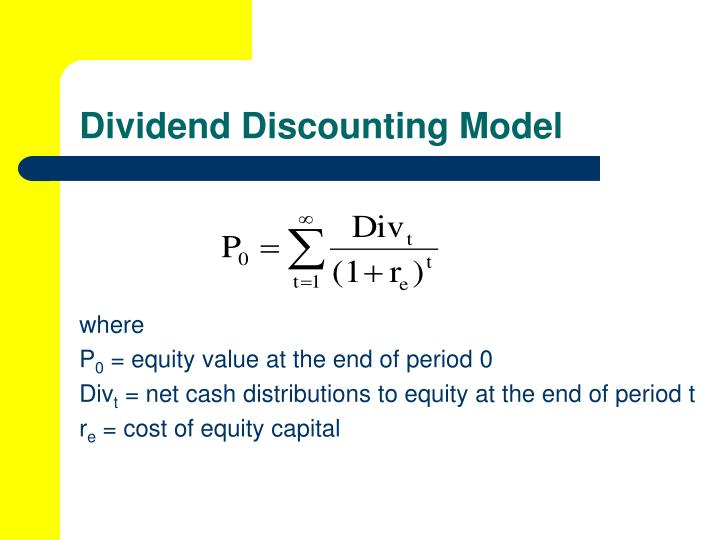 Dividend Discounting Model