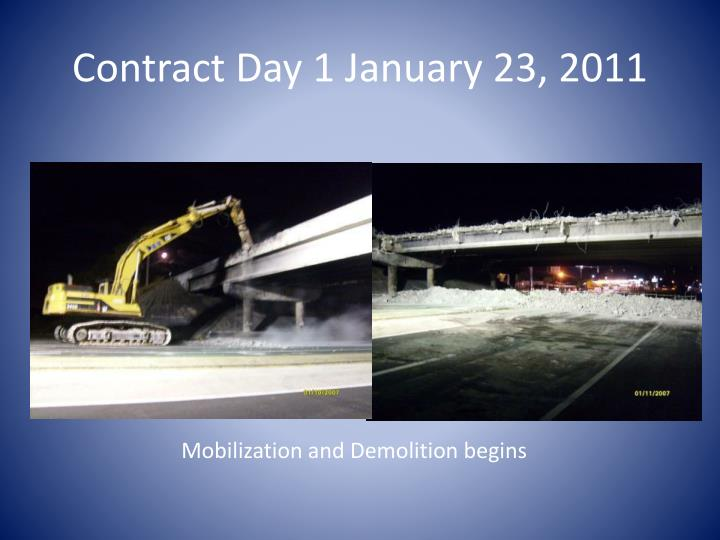 Contract Day 1 January 23, 2011