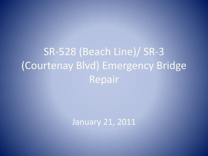 Sr 528 beach line sr 3 courtenay blvd emergency bridge repair