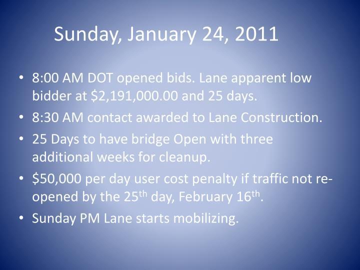 Sunday, January 24, 2011