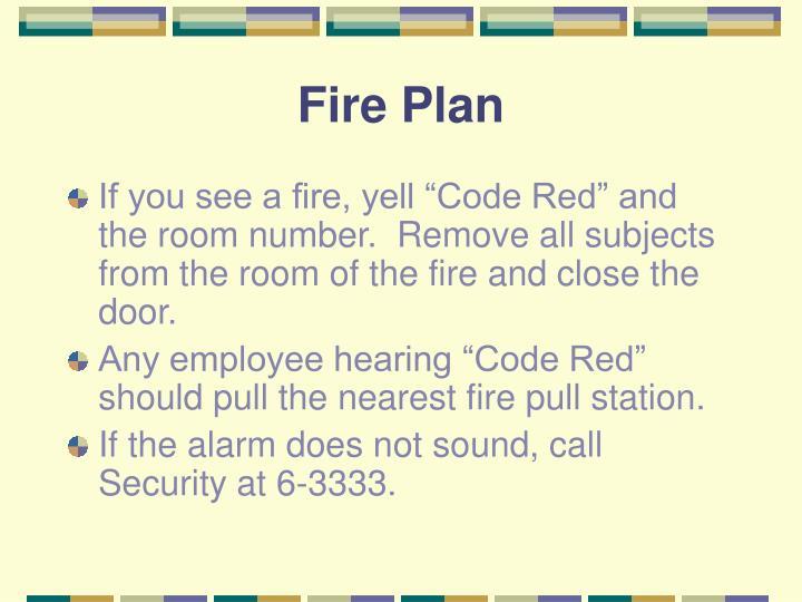 Fire Plan