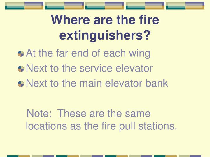 Where are the fire extinguishers?