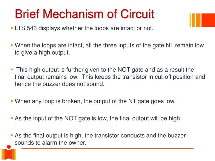 Brief Mechanism of Circuit