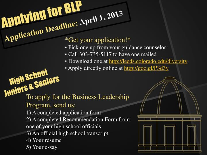 Application Deadline: