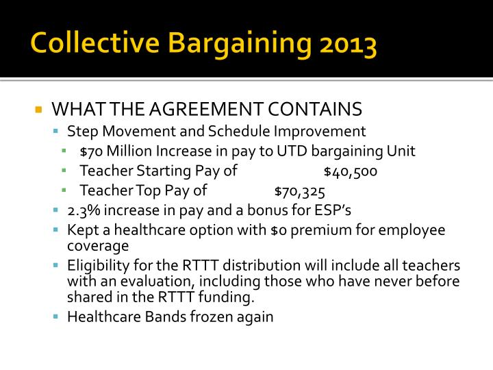 Collective Bargaining 2013