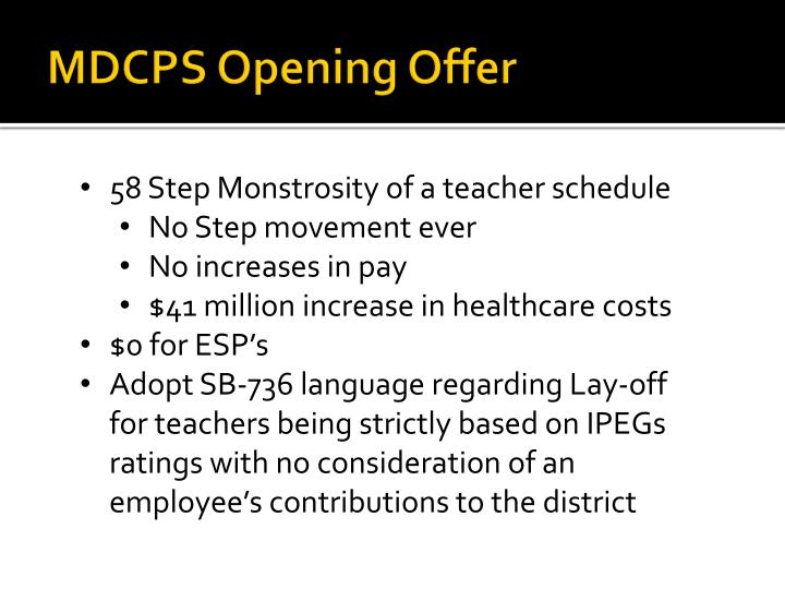 MDCPS Opening Offer