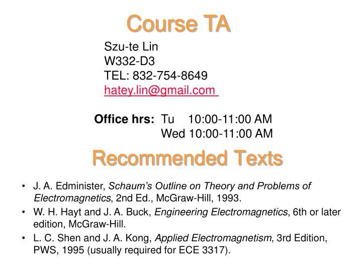 Course TA