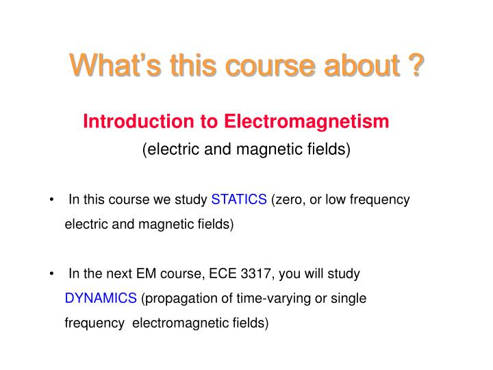 What's this course about ?