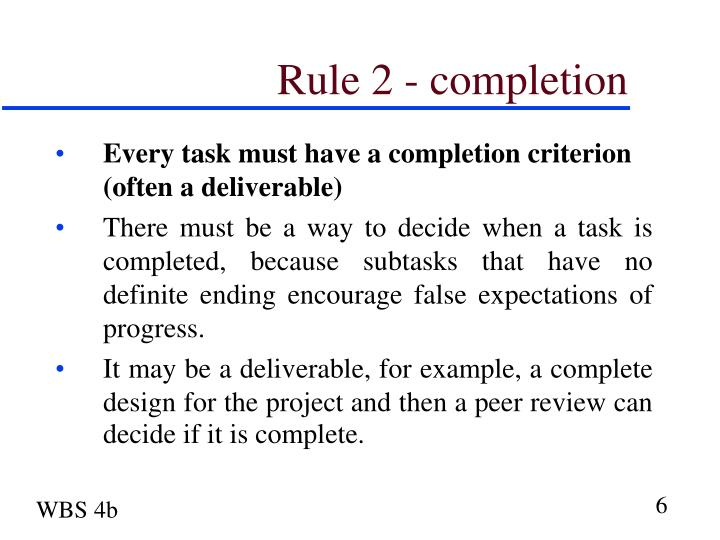 Rule 2 - completion