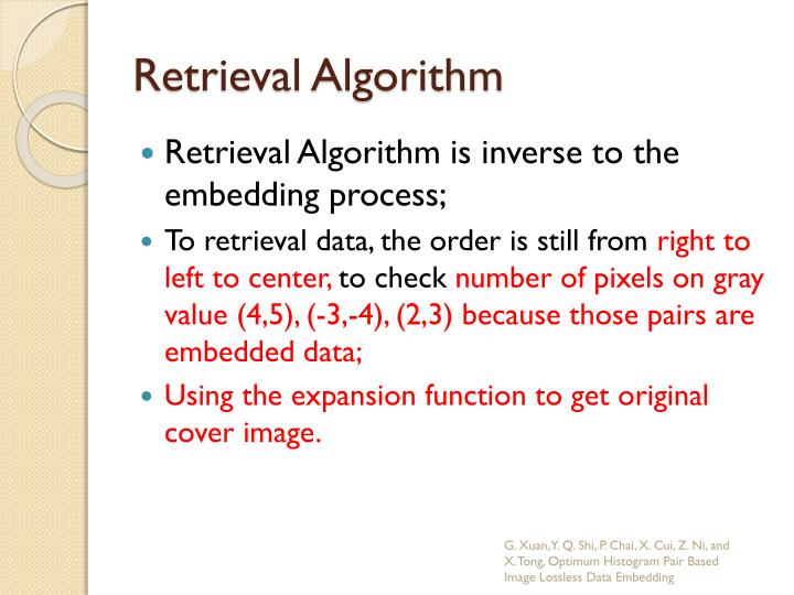 Retrieval Algorithm