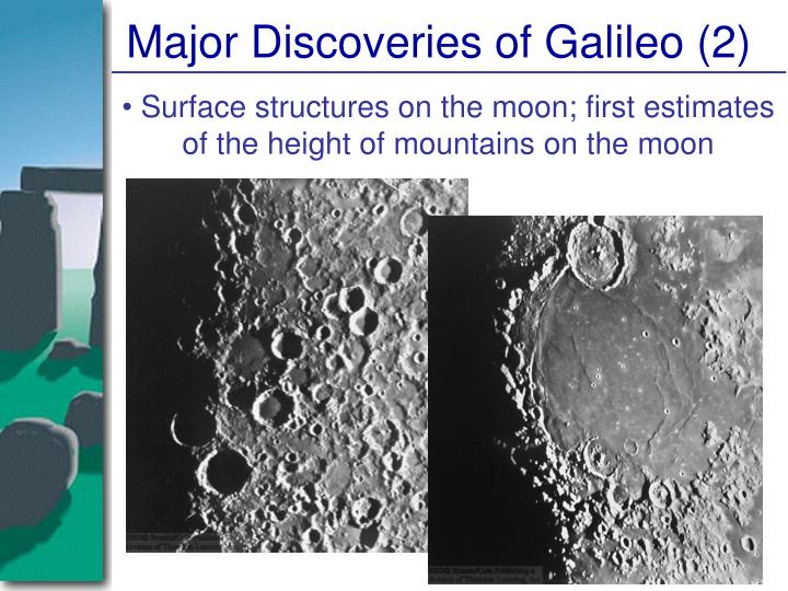 Major Discoveries of Galileo (2)