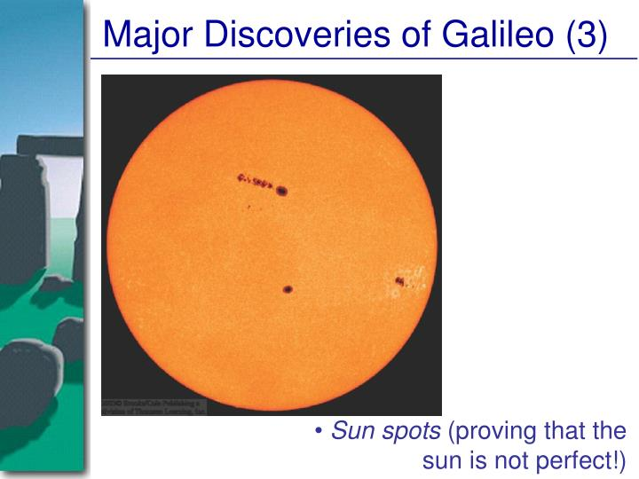 Major Discoveries of Galileo (3)