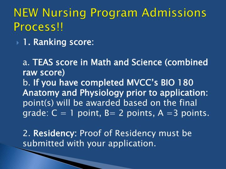 NEW Nursing Program Admissions Process!!