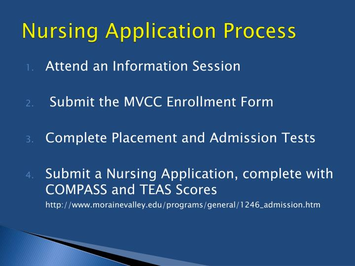 Nursing Application Process