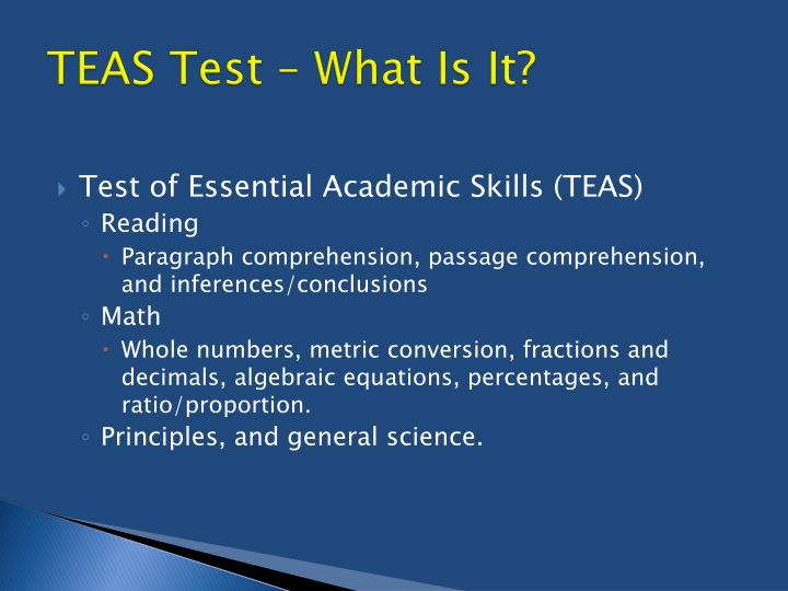 TEAS Test – What Is It?
