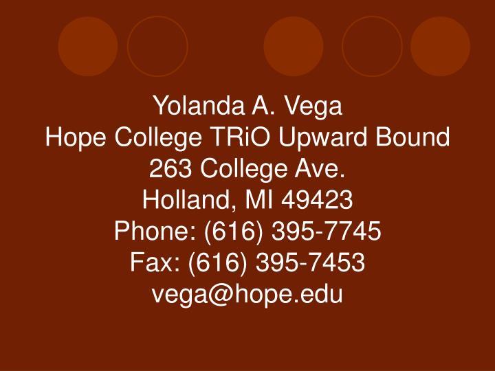 Yolanda A. Vega