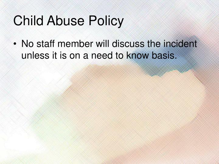 child abuse policy Together with policy frameworks,  overview of key pieces of australian child protection legislation  criminal code amendment (child abuse material).