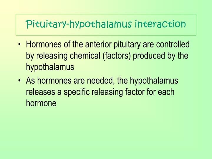 Pituitary-hypothalamus interaction