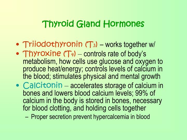 Thyroid Gland Hormones