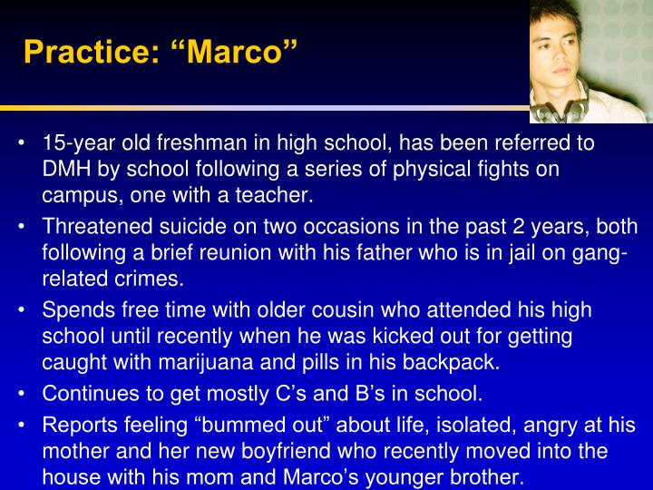 "Practice: ""Marco"""