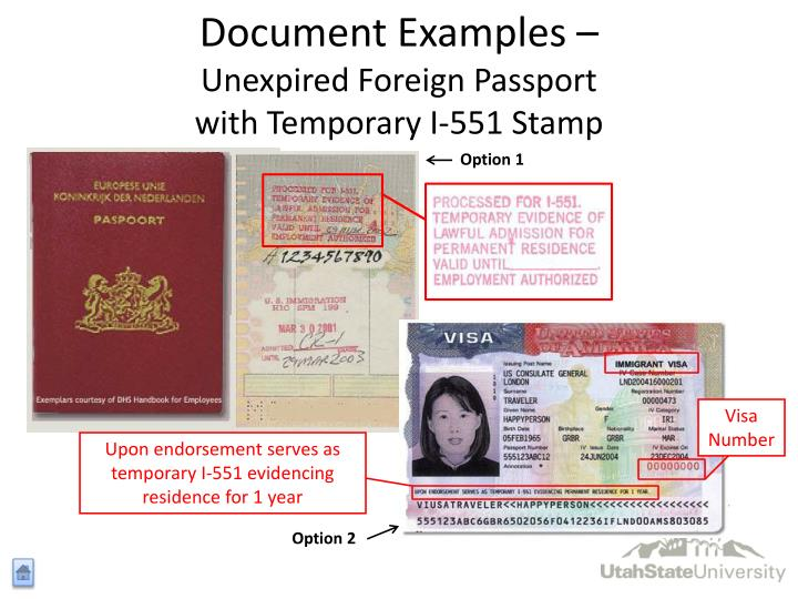 Foreign Passport With I 551 Stamp Pictures To Pin On
