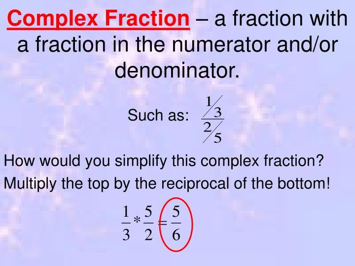 Complex Fraction