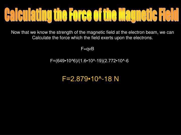 Calculating the Force of the Magnetic Field