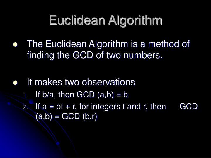 Euclidean Algorithm