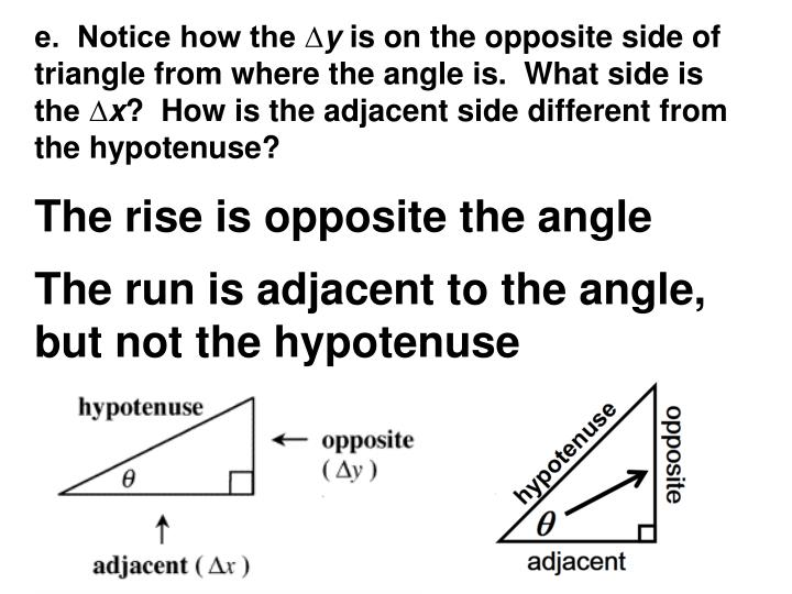 e.  Notice how the ∆