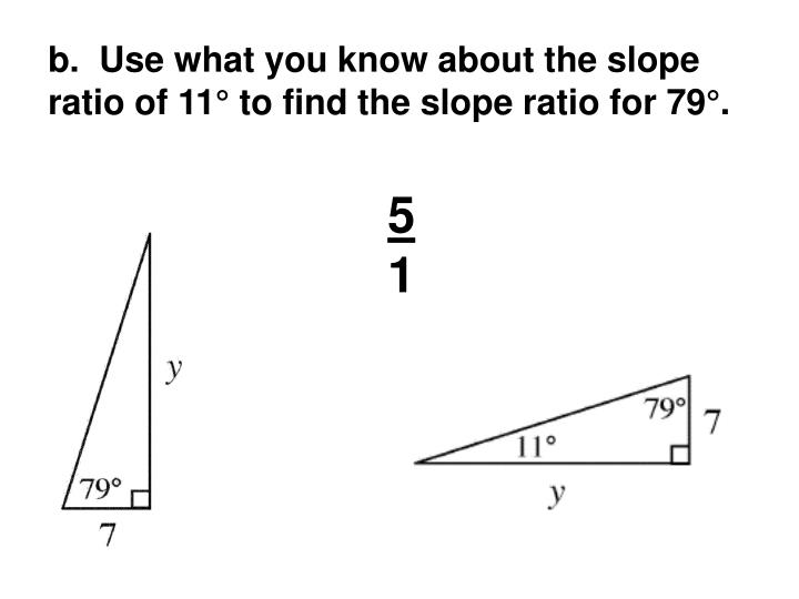 b.  Use what you know about the slope ratio of 11