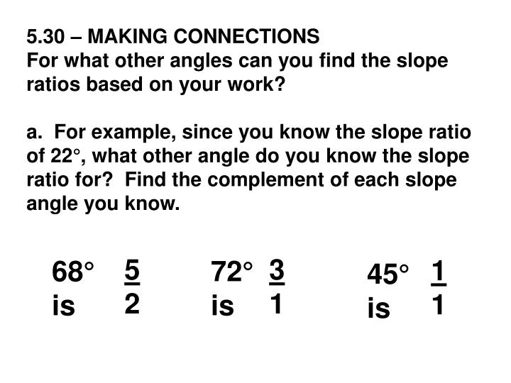 5.30 – MAKING CONNECTIONS