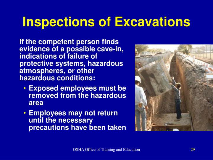 Inspections of Excavations