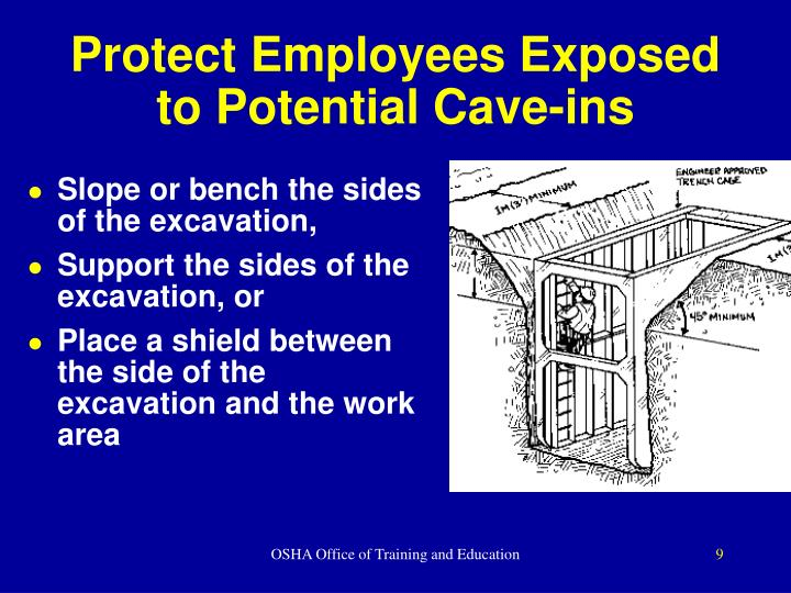 Protect Employees Exposed to Potential Cave-ins