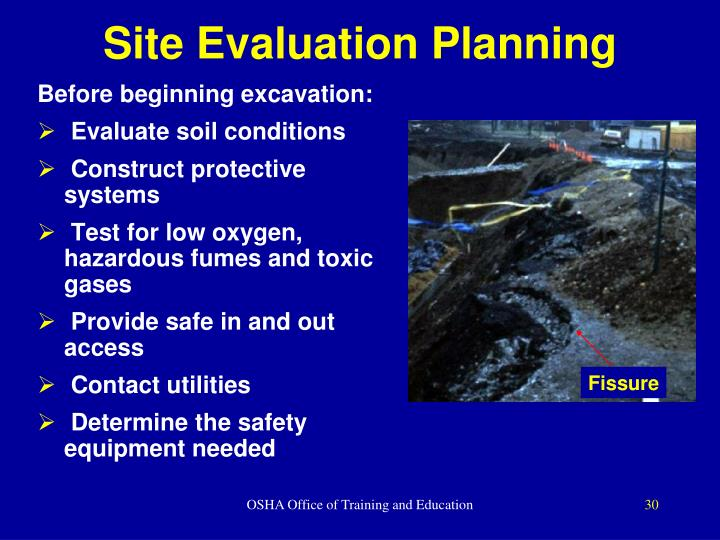 Site Evaluation Planning