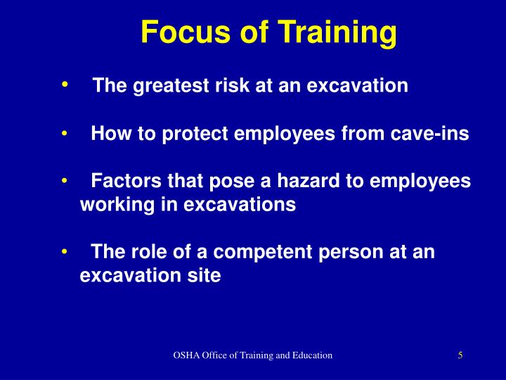 Focus of Training