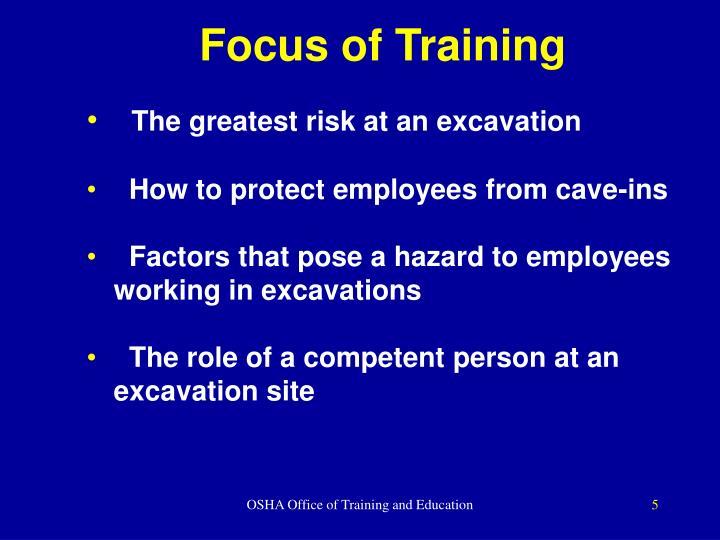 Focus of Training